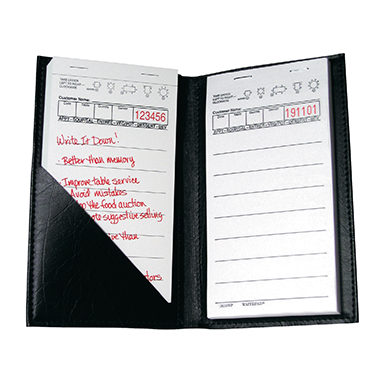 Medium-Wide Black Check Holder
