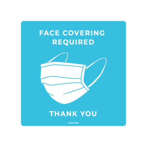 WC55FM Face Covering Required Window Cling